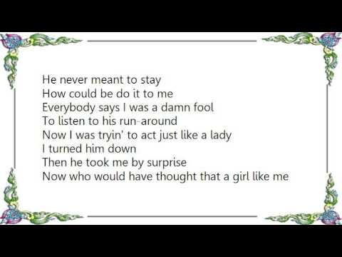 Kim Carnes - All He Did Was Tell Me Lies