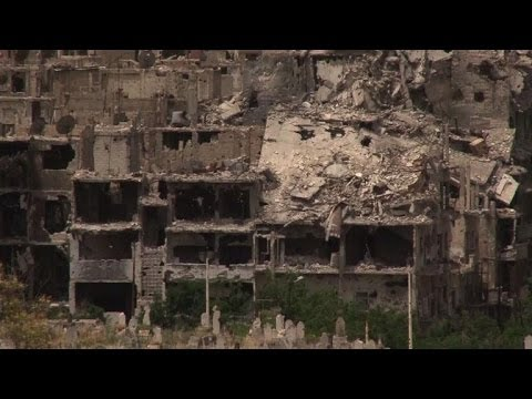 Homs evacuation reveals extent of damage of Syrian war