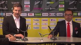 SaiPa-HIFK lehdistötilaisuus 23.9.2017