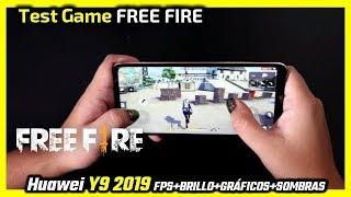 Free Fire Test en Huawei Y9 2019   FPS+BRILLO+GRÁFICOS+SOMBRAS