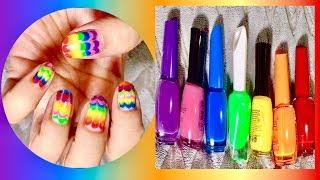 Rainbow Nail Art | Colorful Nail Art