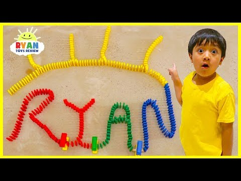 Amazing Dominoes Challenge with Ryan ToysReview!!!