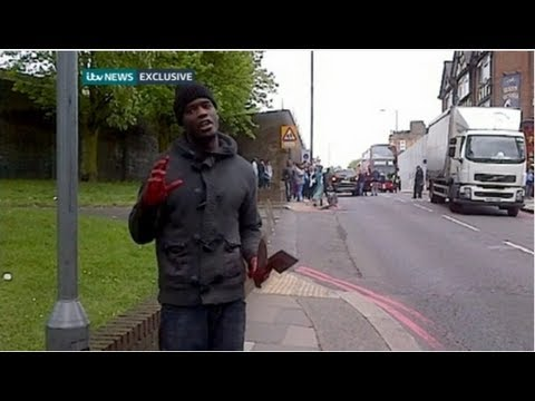 Woolwich knife attack caught on film