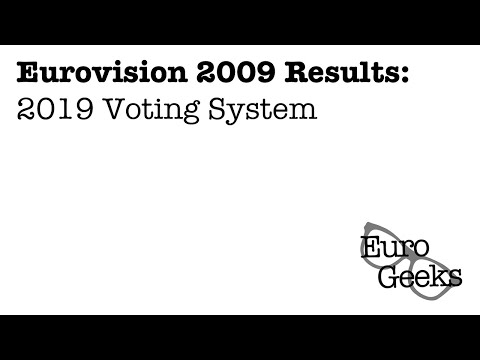 Eurovision 2009 Voting (2019 system)