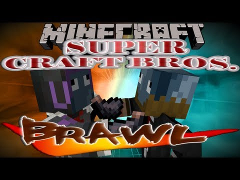 Minecraft Super Craft Bros Brawl Plugin w/Jerome - Silverfish can't fly!