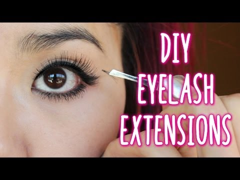 How to Apply Individual Lashes - DIY eyelash extensions