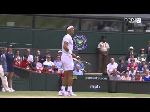 Rafael Nadal trick vs Rosol wimbledon 2014