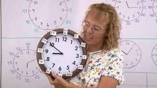 Telling time to the 5-minute intervals, part 2: numbers for minute hand; the tricky times made easy