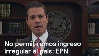 Mensaje de Peña Nieto sobre la Caravana de Migrantes Hondureños - En Punto con Denise Maerker