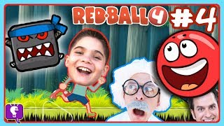 HobbyKids Teleport into RED BALL 4 Game to Rescue HobbyHarry!