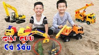 Trò Chơi Máy Xúc Máy Cẩu Giải Cứu Cá Sấu Đồ Chơi ♥ Min Min TV Minh Khoa