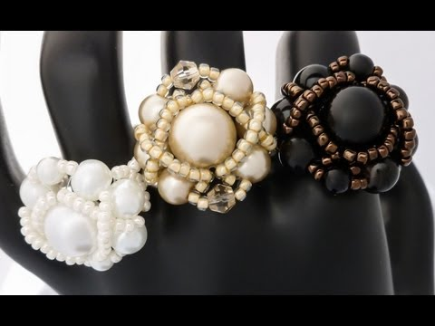 TheHeartBeading: Pearl Ring Tutorial