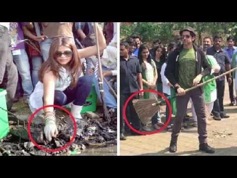 Priyanka Chopra & Hrithik Roshan Supports Narendra Modi Clean India Campaign