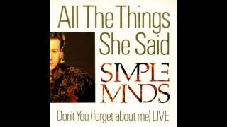 Baixar - Simple Minds All The Things She Said Grátis