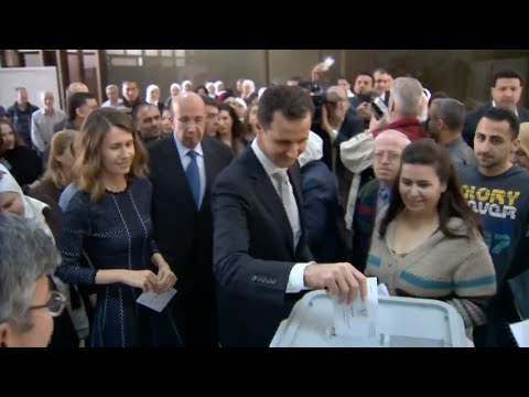 Syrian President Bashar al-Assad Casts Vote in Parliamentary Elections