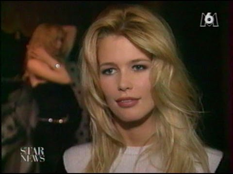 Claudia Schiffer  interview exclusive on French TV in 1996
