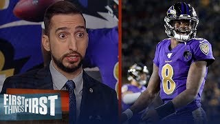 'I'm surprised!': Nick Wright on Lamar Jackson's 5-TD game in MNF debut | NFL | FIRST THINGS FIRST