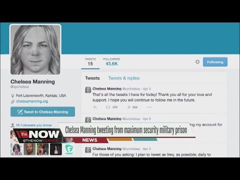 Chelsea Manning is tweeting from a maximum security military prison