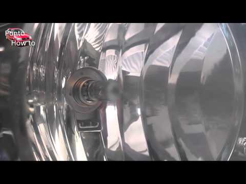 Fiat Punto How to Replace a head light bulb