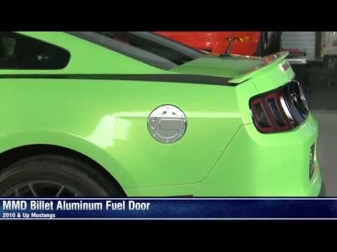 Mustang MMD Billet Aluminum Fuel Doors - Black and Chrome (10-14 All) Review