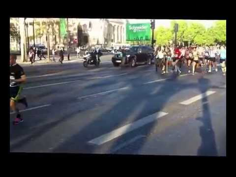 Warm-up Kenenisa Bekele - Marathon de Paris 2014