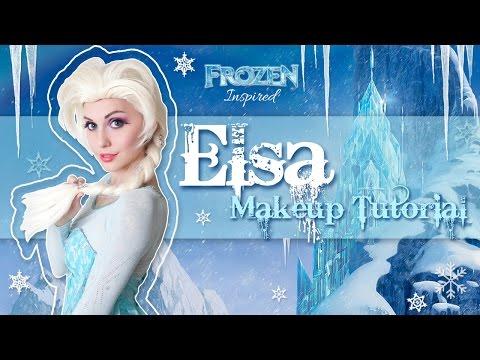 Elsa Makeup Tutorial - Disney's Frozen Cosplay Transformation