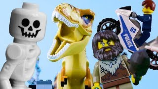 LEGO Dinosaurs, Police & Time Travel (Compilation) STOP MOTION | LEGO City Fails | By Billy Bricks