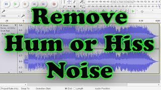 Audacity noise removal settings tutorial