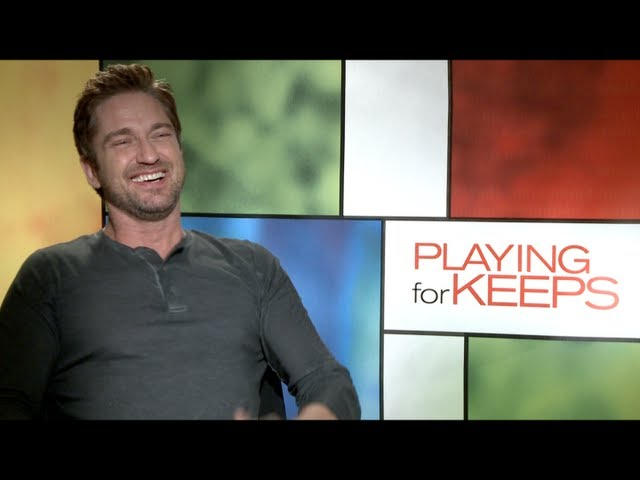 Gerard Butler and Jessica Biel Interview for PLAYING FOR KEEPS