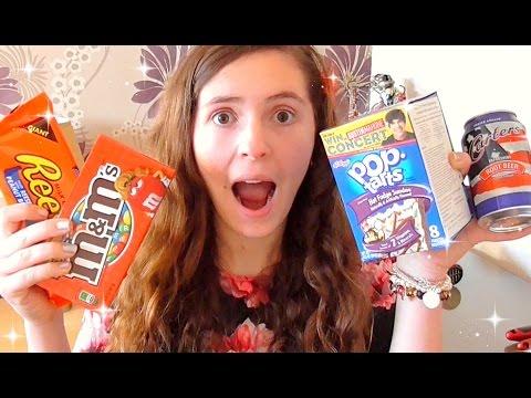 AMERICAN FOOD TASTE TEST l JasmineStarler