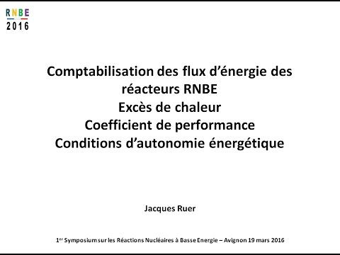 RNBE 2016 - Comptabilisation des flux d'énergie des réacteurs RNBE par Jacques Ruer