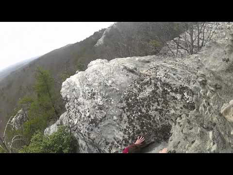 Falling 25ft. off a cliff at Hanging Rock NC