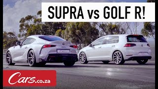 Drag Race: Toyota Supra vs VW Golf R