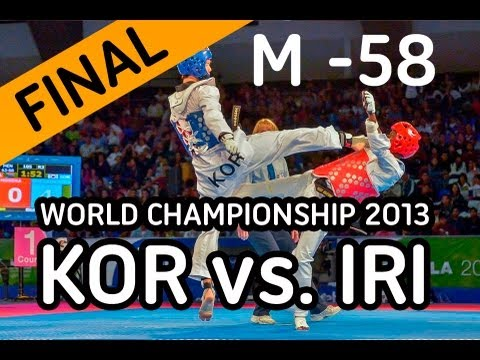 World Taekwondo Championships 2013 - [final] Men -58 Kg. - Kor Vs Iri video