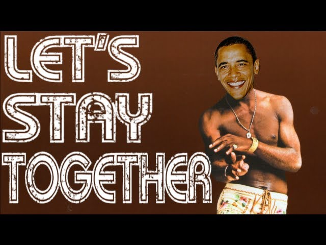 Obama Sings 'Let's Stay Together'