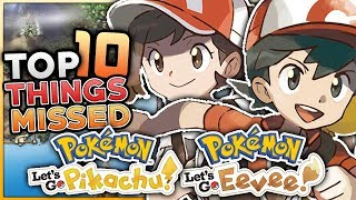 10 NEW Features YOU MISSED In Pokemon Let's Go Pikachu & Let's Go Eevee