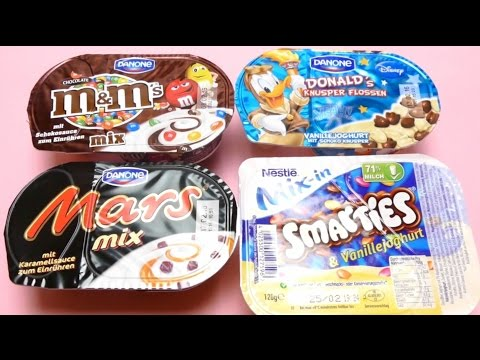 German Sweets - Nestle Mars, M&M's, Smarties & Danone Donald Duck Dessert