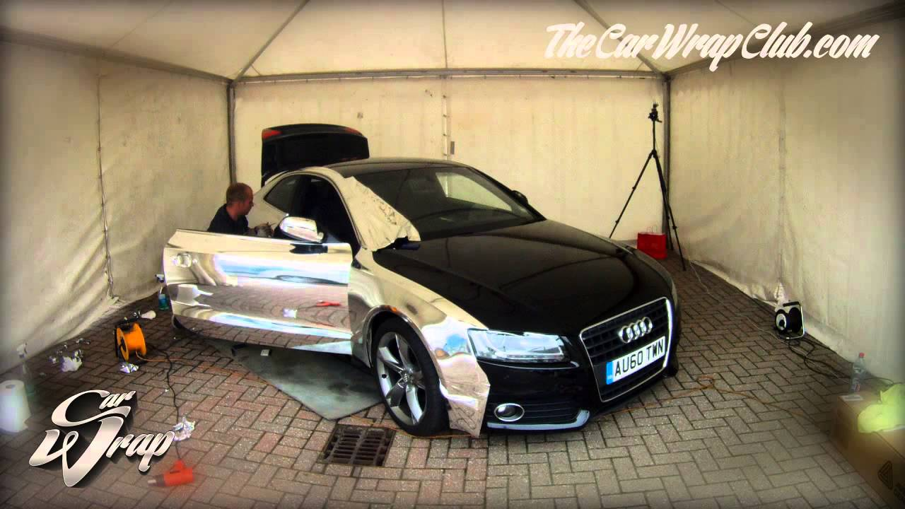 Audi A5 Wrapped In Chrome Time Lapse Youtube