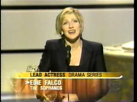 Edie Falco wins 2001 Emmy Award for Lead Actress in a Drama Series