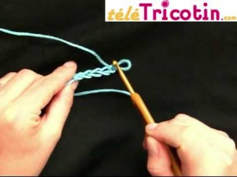 Cours complet le crochet faire une cha nette ou maille en l 39 air youtube - Crochet maille en l air ...