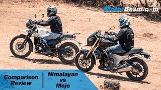 Royal Enfield Himalayan vs Mahindra Mojo - Comparison Review | MotorBeam
