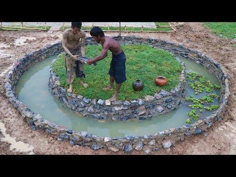 Build Stone Fish Pond