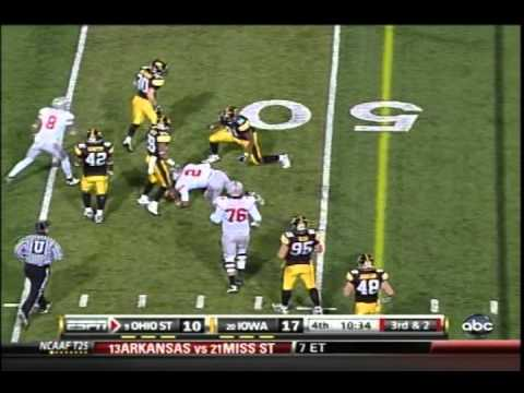 #9 Ohio State vs. #20 Iowa Football Highlights 2010