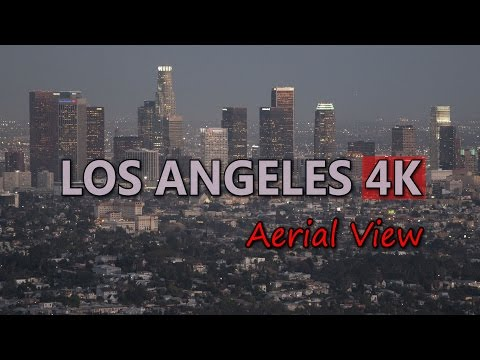 Ultra HD 4K Los Angeles Travel Aerial View USA Tourism US Tourist Attraction UHD Video Stock Footage