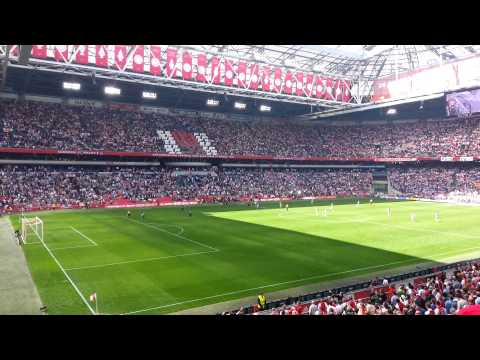 Ajax fans sing 3 Little Birds