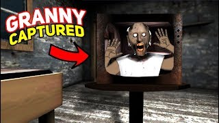 Granny Gets CAPTURED IN THE TV!!!   Granny The Mobile Horror Game (Story)