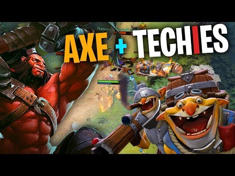 The Techies & Axe Strat - DotA 2 Full Match