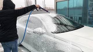 Мойка грязной машины Kia Optima GT - пена, воск, осмос. Car wash thick foam Kia Optima GT