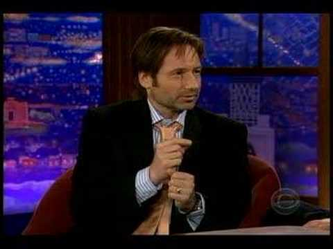David Duchovny engagment on Late Late Show w/ Ferguson.