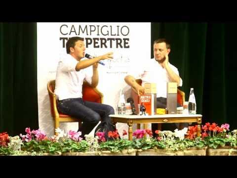 Matteo Renzi a Madonna di Campiglio sulle pensioni